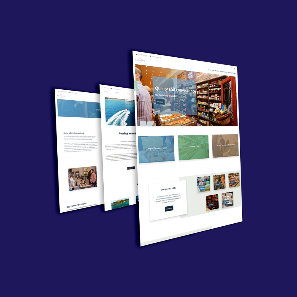 home web design. Kazianis Company  Web Design Development Home Motivar Creative Studio Corfu Greece