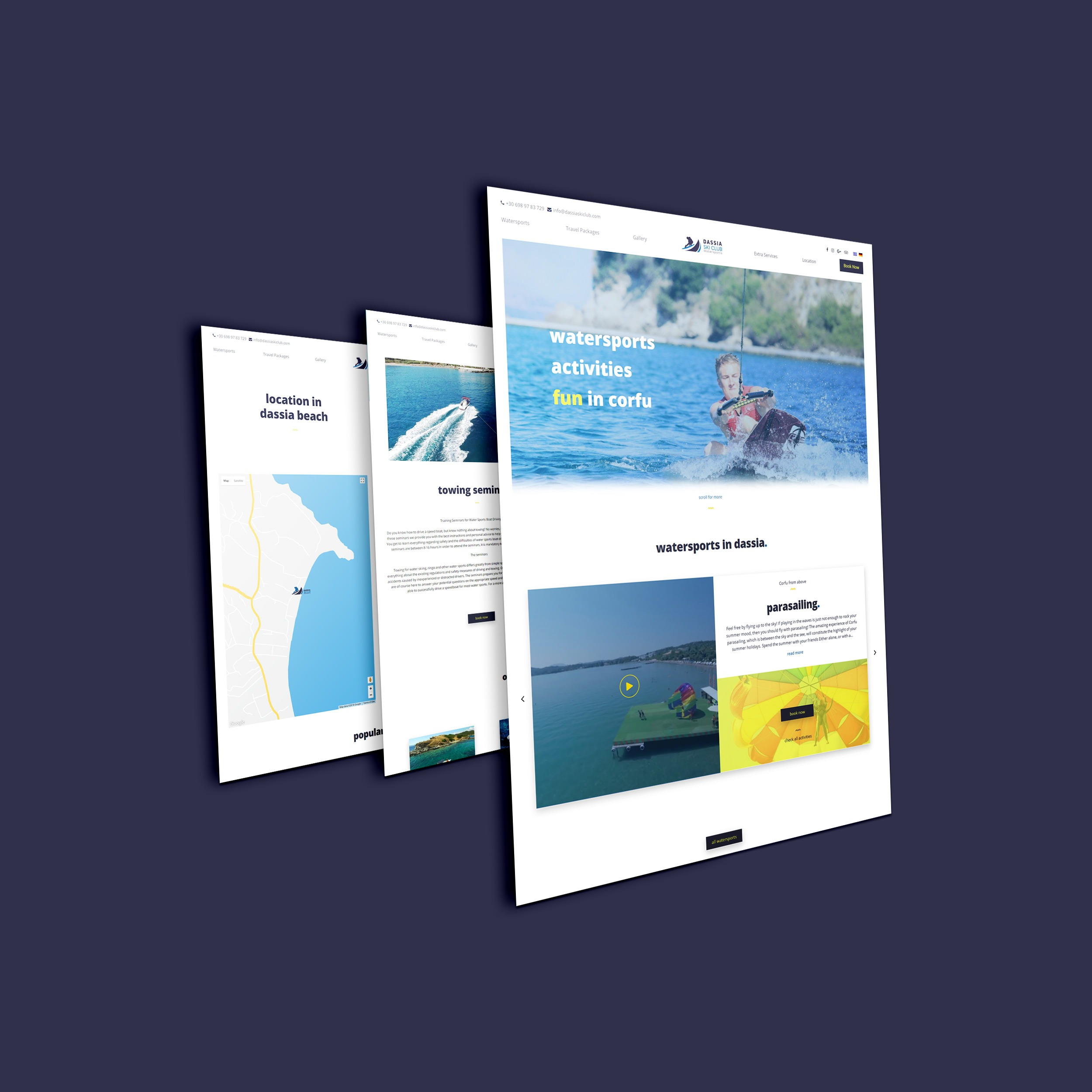 home web design. Watersports Dassiaskiclub Web Design Corfu  Home Motivar Creative Web Studio Corfu Greece